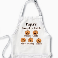 Personalized Halloween Pumpkins Character Apron