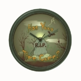 PERSONALIZED HAS YOUR TIME COME HALLOWEEN CLOCK