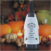 Personalized Haunting Scrolls Halloween Bottle Apron For Wine, Spirits, Craft Beer, Coffee Syrups and Cooking Oils