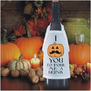 Personalized Hipster Halloween Jack O'Lantern Bottle Apron For Wine, Spirits, Craft Beer, Coffee Syrups and Cooking Oils