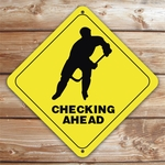 Personalized Hockey Player Caution Sign