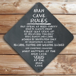 Personalized Man Cave Rules Caution Sign