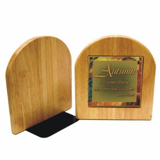 Personalized Maple Bookends