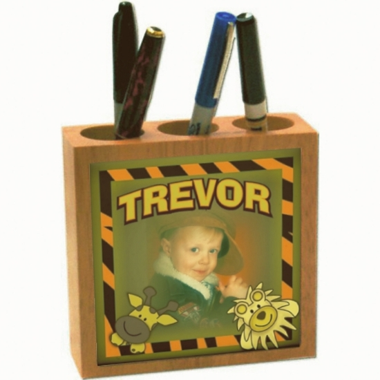 Personalized Maple Pencil Holder