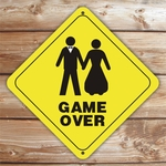 Personalized Married Couple Caution Sign