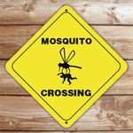 Personalized Mosquito Crossing Caution Sign