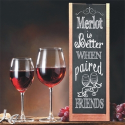 Personalized Paired With Friends Chalkboard Wine And Spirits Box