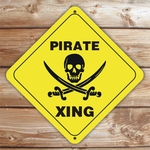 Personalized Pirate Crossing Sign