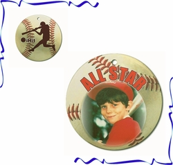Personalized Porcelain Baseball Ornaments And Gift Tags