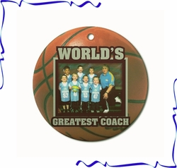 Personalized Porcelain Basketball Ornaments And Gift Tags