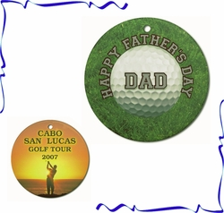 Personalized Porcelain Golf Ornaments And Gift Tags