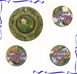 Personalized Porcelain Music Ornaments And Gift Tags