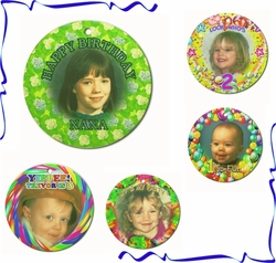 Personalized Porcelain Round Birthday Ornaments And Gift Tags