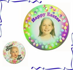 Personalized Porcelain Round Easter Ornaments And Gift Tags