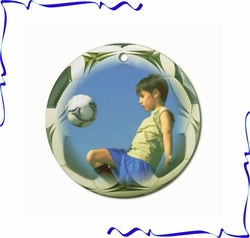 Personalized Porcelain Soccer Ornaments And Gift Tags