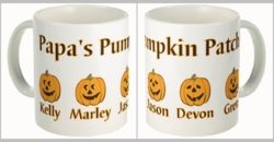 Personalized Halloween Pumpkins Coffee And Tea Mug