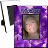 Personalized Purple Floral Picture Frame For A 5x7 Picture
