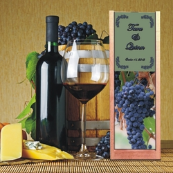 Personalized Purple Grapes Wine And Spirits Box
