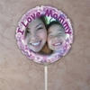 Personalized Purple Petals Photo Balloon