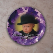 Personalized Purple Petals Porcelain Photo Plate