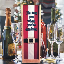 Personalized Santa Suit Wine And Spirits Box