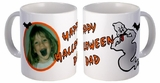 Personalized Silly Ghost Halloween Photo Coffee And Tea Mug