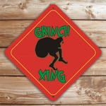 Personalized Sneaky Grinch Silhouette Christmas Sign