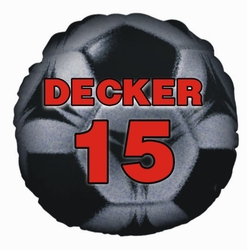 Personalized Soccer Ball Round Photo Throw Pillow