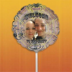 Personalized Spiders Halloween Photo Balloon