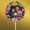 Personalized Stars and Ribbon Christmas Photo Balloon