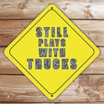 Personalized Steel Plate Letters Caution Sign