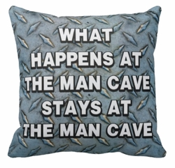 Personalized Steel Plate Man Cave Square Throw Pillow