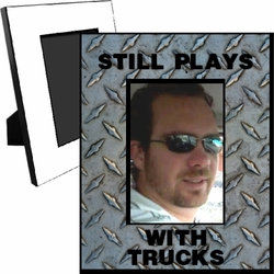 Personalized Steel Tread Plate Picture Frame For A 5x7 Picture