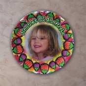 Personalized Strawberries Porcelain Photo Plate