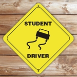 Personalized Student Driver Caution Sign
