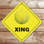 Personalized Tennis Ball Crossing Sign