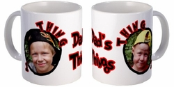 Personalized Thing 1 And Thing 2 Photo Mug