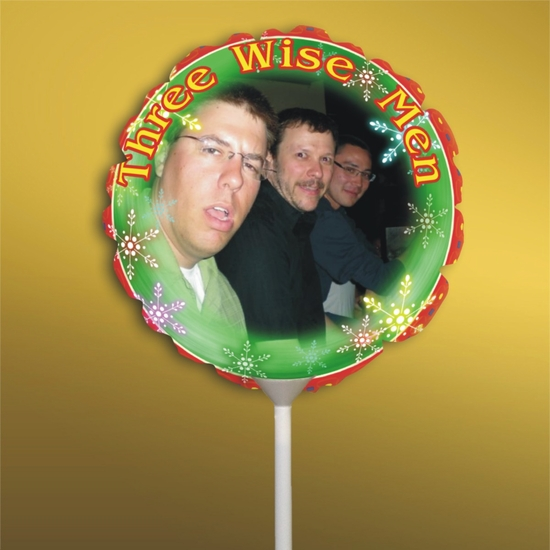 Personalized Three Wise Men Christmas Photo Balloon