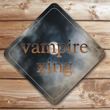 Personalized Vampire Crossing Caution Sign