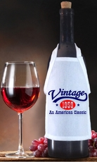 Personalized Vintage, An American Classic Birthday Bottle Apron For Wine, Spirits, Craft Beer, Coffee Syrups and Cooking Oils