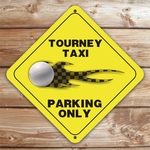 Personalized Volleyball Tourney Taxi Parking Sign