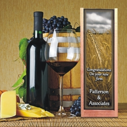 Personalized Wheat Wine And Spirits Box