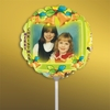 Personalized Yellow Bells Christmas Photo Balloon