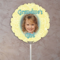 Personalized Yellow Petals Mother's Day Photo Balloon