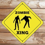 Personalized Zombie Crossing Caution Sign