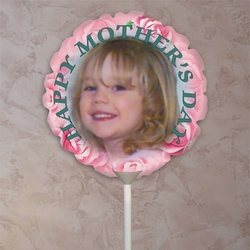 Personalized Bouquet Of Pink Roses Photo Balloon