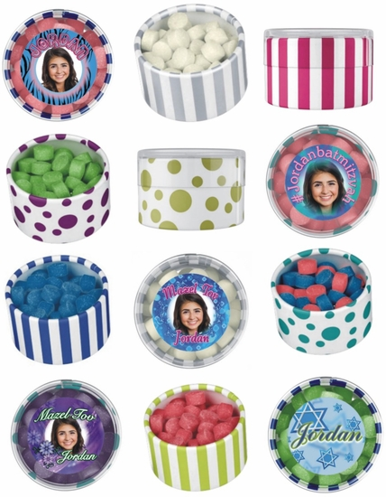 Set Of 12 Personalized Bat Mitzvah Favors With Chewing Gum