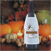 Silly Ghost Halloween Bottle Apron For Wine, Spirits, Craft Beer, Coffee Syrups and Cooking Oils