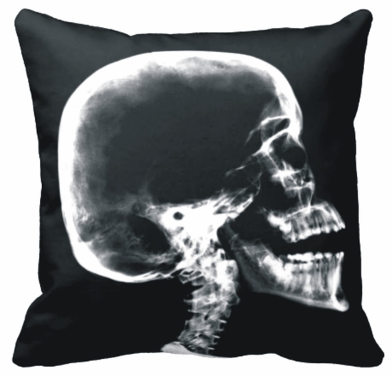 Skull X-Ray Throw Pillow
