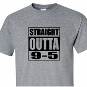 Straight Outta 9-5 Retired T-Shirt, Funny Retirement Gift, Retirement Party Gift, Retirement T-Shirt, Retirement Shirt, Retirement Gift